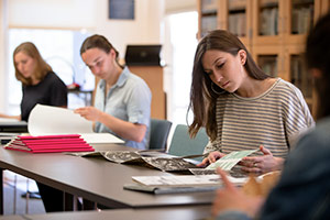 students in archives class
