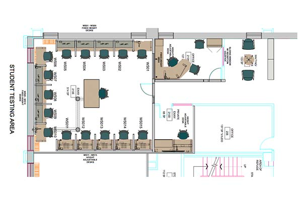 Floor Plans for New Student Test Center