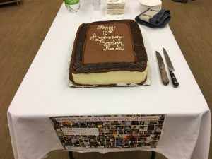 Bowdoin Reads 10th anniversary cake