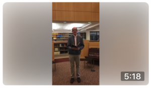 Guy Saldanha inside the Bowdoin College Library